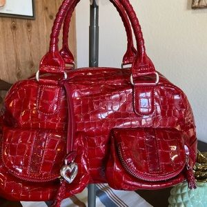 Brighton Red Patent Leather Shoulder Bag